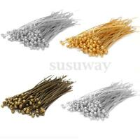 New 100pcs 30/40/50mm Bronze Gold Silver Plated Metal Round Head Pins
