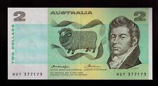 **1976 Australian $2 note Knight/Wheeler OCR-B side thread gEF  **