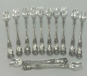 "Rose by Mount Vernon Sterling Silver set of 12 Seafood / Cocktail Forks 6"""