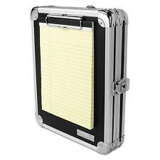 Vaultz Locking Storage Clipboard 2 x 9 3/4 x 12 3/4 Black VZ00151DAS