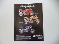 advertising Pubblicità 2005 MOTO HYOSUNG COMET GS 650 R/GT 650 S/GT 650