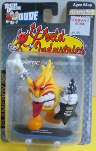 "Tech Deck Dude- Steve Rocco's ""World Industries"" FLAMEBOY-Heavy Metal MOC 2001"