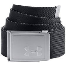 Under Armour 2018 Mens Reversible Webbing 2.0 Golf Belt - One Size Fits All Black