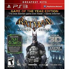 Batman Arkham Asylum Game of the Year Edition PS3! ROBIN, JOKER, SUPER HERO