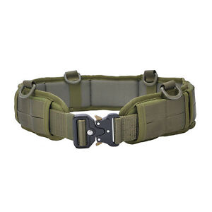 Tactical Military Molle Waist Belt Padded Combat Battle Quick Release Belt Strap