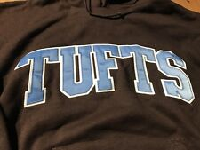 Rare 80s Champion  Tufts University Hoodie  Sweatshirt Medium Vintage Brown Blue