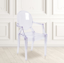 New ListingFlash Furniture Transparent Crystal Ghost Chair with Arms