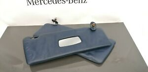 Mercedes W123 Sun Visors Visor Left And Right Side Set Color Blue