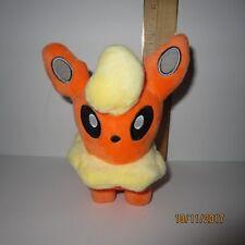 "Flareon Pokemon Center 5.5"" Plush Doll Eevee Evolution Nintendo 2010"