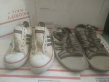 Retro Adidas Sneakers Size 8.5 + Colombia Sandels Size 8.5