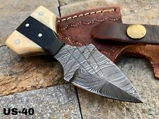 "5"" AMERICANO CUTLERY CUSTOM HANDMADE DAMASCUS STEEL HUNTING KNIFE - US-40"