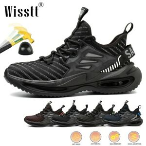 Mens Boots Outdoor Work Safety Air Construction Shoes Steel Toe Sports Trainers
