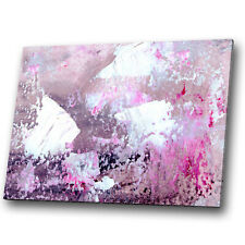 Pink Purple White Fuchsia Abstract Canvas Wall Art Large Picture Prints