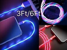 LiliDreamStore LED Light flowing Visible USB Charger Charging Cable Cord iPhone