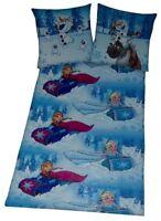 Disney Frozen/Eiskönigin Bettwäsche Set 2 teilig 135 x 200 cm Anna, Elsa & Olaf