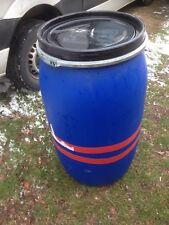 Fass Tonne Wasserfass Regenwasserfass Spundfass 220 L blau Kunststoff Plaste