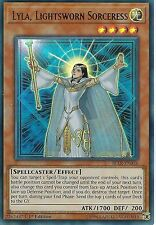 YU-GI-OH CARD: LYLA, LIGHTSWORN SORCERESS - ULTRA RARE - BLLR-EN036 -1st EDITION