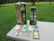 VINTAGE 1964, COLEMAN, MODEL 220F, GREEN DOUBLE MANTLE GAS LANTERN, with BOX
