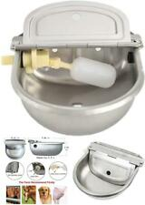 Automatic Bowl Dispenser Stainless Steel Trough Waterer Pet Dog Horse Cattle Goa