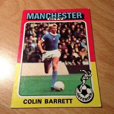 Topps 1975/76 Red/Grey Back Card No-183 - Colin Barrett of Manchester City