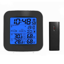 Wireless Digital Home Weather Station Forecast Indoor Outdoor Thermometer