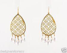 Isharya Teardrop Royal Filigree Pearl Earring