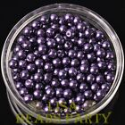 New 300pcs 6mm Round Czech Glass Pearl Loose Spacer Beads Deep Purple
