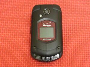 Kyocera DuraXV E4520PTT Verizon Wireless Black/Red Rugged Flip Cell Phone E4520
