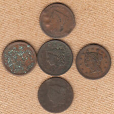 (5) Wounded Large Cents