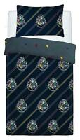 New Harry Potter Hogwarts Single Duvet Quilt Cover Navy Bedding Set Kids Boys
