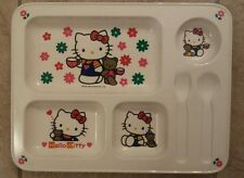 HELLO KITTY 1996 Melamine Sectional Plate/Tray