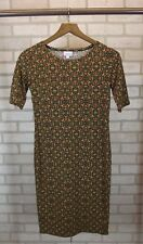LuLaRoe Womens Dress Short Sleeves Size X-Small XS Brown Misses Juniors
