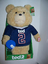 Retired new TED 2 movie Sports Shirt Electronic Talking Teddy BEAR 16 inch plush