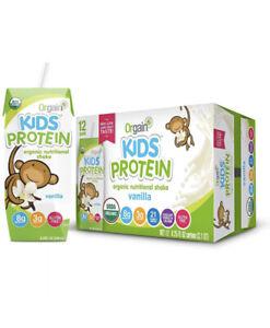 Orgain Organic Kids Protein Nutritional Shake Vanilla - 12 Pack Box