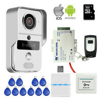 DIY Wifi IP RFID Doorbell Camera Video Intercom for Android IPhone Remote Unlock