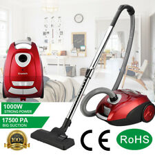 1000w Powerful Compact Cyclonic Cylinder Vacuum Cleaner Hoover HEPA VAC Bagged