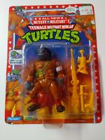 Dimwit Doughboy Rocksteady Military 2 1992 action figure unpunched 5276 TMNT