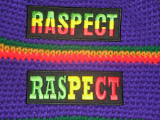 RASPECT ** RASTA RESPECT IRON ON PATCH + NEW & UNIQUE 2 DESIGNS AVAILABLE
