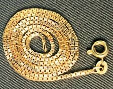 9ct yellow solid gold box chain/ necklace