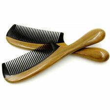 Unisex Anti Static Hair Beard Comb Natural Green Sandalwood Ox Horn Care 1pc