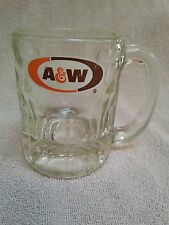 Vintage Thick Glass A & W Root Beer Soda Pop Mug Heavy 4 1/4in High Collectibles