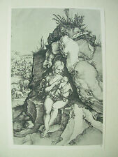 Albrecht DURER VINTAGE incisione su rame la penitenza di San Giovanni Crisostomo