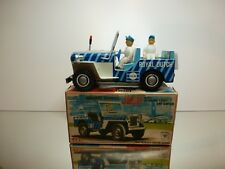 ICHIKO TIN TOY WILLY's JEEP - KLM AIRPORT SERVICES - L21.0cm RARE - GOOD IN BOX