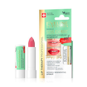 Eveline LIP THERAPY S.O.S. Expert Intensely Regenerating Lip Balm with Red Tint