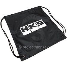 HKS 51003-AK127 HKS Block Logo Drawstring Cinch Bag Pouch Sack Genuine Part JDM
