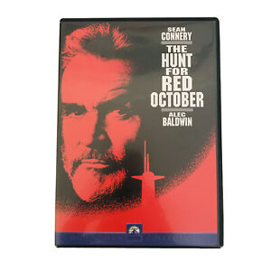 The Hunt For Red October ~ SEAN CONNERY ALEC BALDWIN ~ DVD Region 1 Rated PG~ BN
