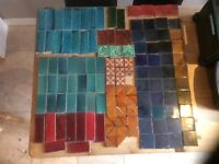 Victorian hearth tiles - plus black & white floor tiles -all original reclaimed.