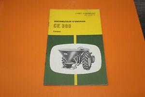 (153) JOHN DEERE Distributeur d'engrais CE 300 Fertisol  Livret d'entretien