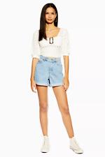 Topshop Mom Fit High Rise Denim Shorts-Größe UK 8/EU 36