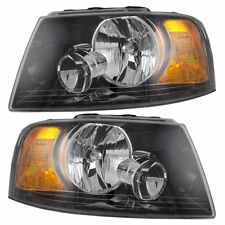 THOR MOTOR PALAZZO 2013-2015 PAIR BLACK HEADLIGHTS HEAD LAMPS FRONT LIGHTS RV